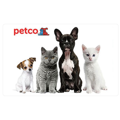 PETCO<sup>&reg;</sup> $25 Gift Card - Get all of your pet care needs online or in stores at PetCo with this $25 gift card.